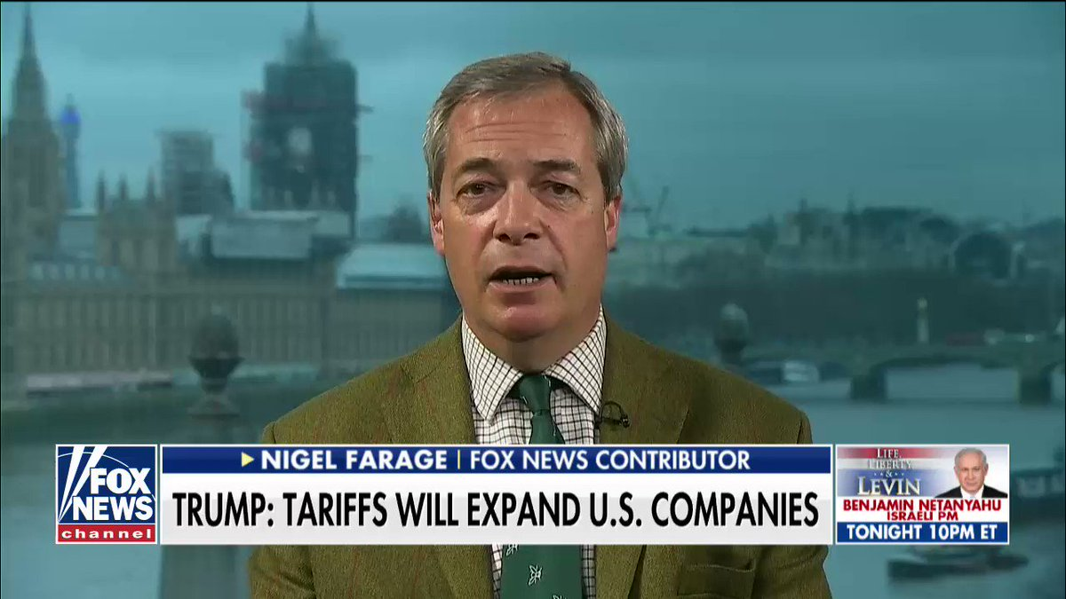 ".@Nigel_Farage on President @realDonaldTrump: ""Through strong leadership, he gets things done."" https://t.co/sWrFY5N9Rr"