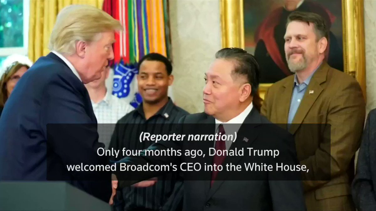 Trump says no to Broadcom's bid to take over Qualcomm over national security issues. https://t.co/TWsHKtTxEb https://t.co/pfdCTE2wKO