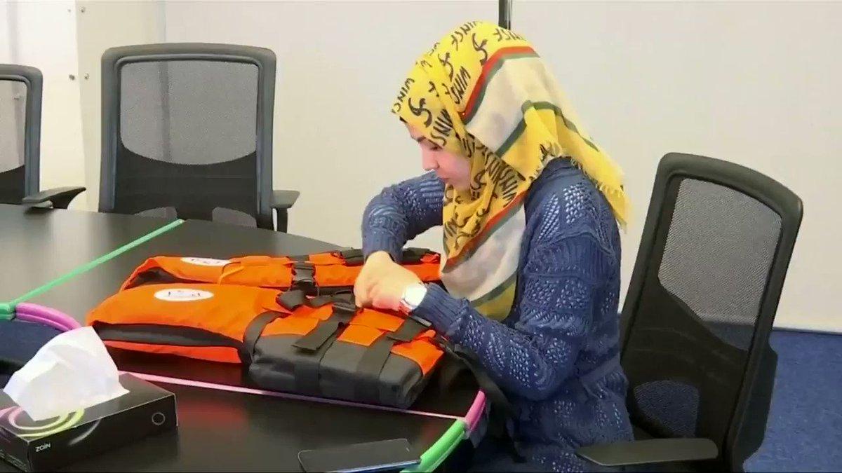 Syrian woman develops GPS-equipped life jacket. https://t.co/TWsHKtTxEb https://t.co/wL9JlYJGO5