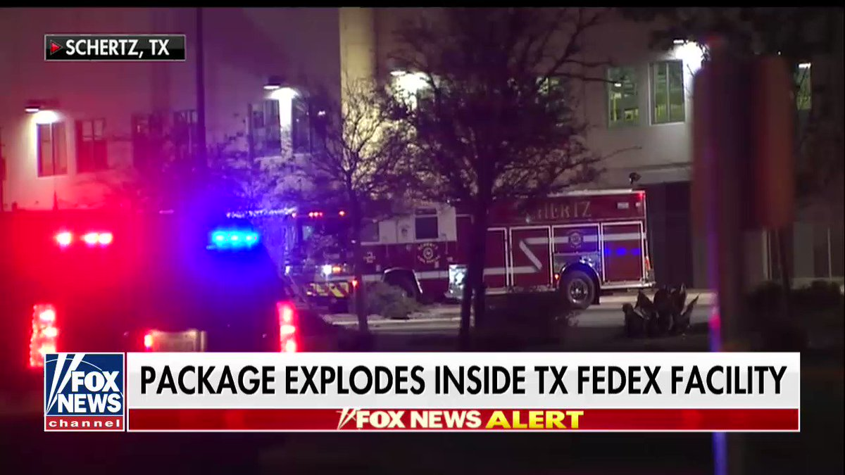 JUST IN: Device explodes in FedEx building outside San Antonio, police say https://t.co/fqlCo4ZcKf https://t.co/ViApZh4klP