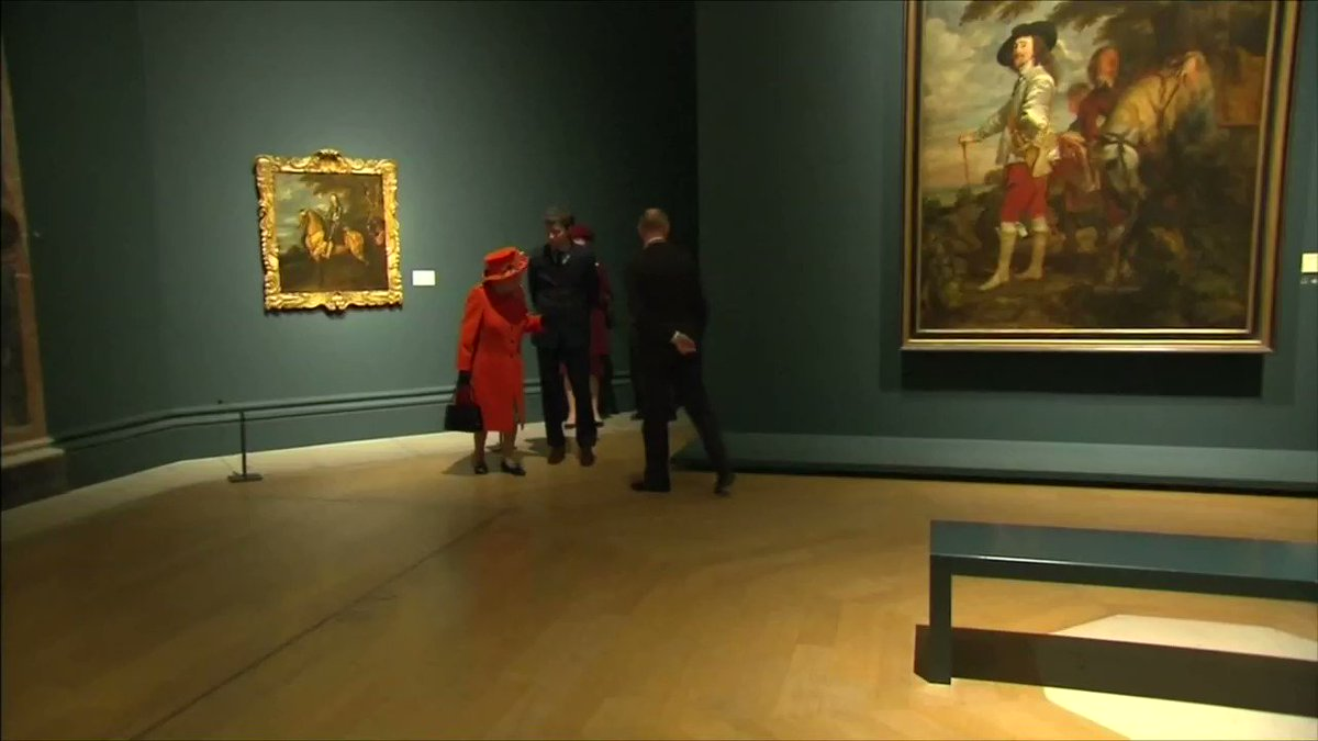 Britain's Queen Elizabeth visits the Royal Academy of Arts. https://t.co/3DZMTkf2GE https://t.co/g2psiPYzW6
