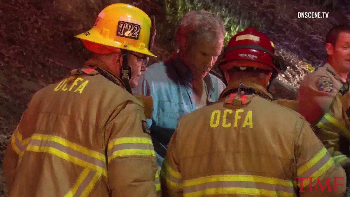 Video shows Will Ferrell being treated by paramedics after L.A. freeway crash https://t.co/jCDrJMK2K7 https://t.co/QNXGL9qIUE