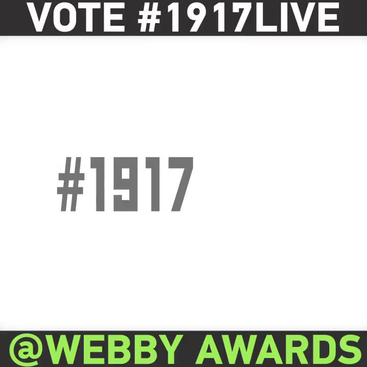 """Time Travel Is Real"" - @FernRiddell on 1917LIVE VOTE to help us win @TheWebbyAwards"