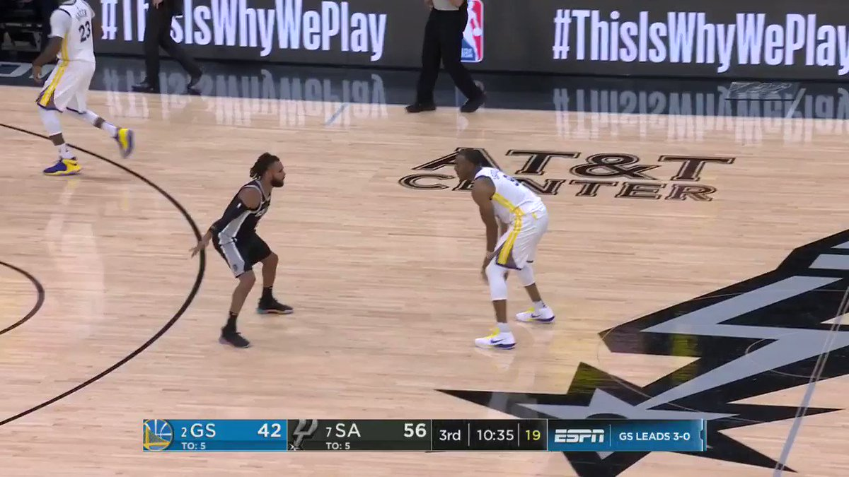 Nice way to start the 2nd half ��  ��: #NBAonABC https://t.co/zzMEMlcsvw