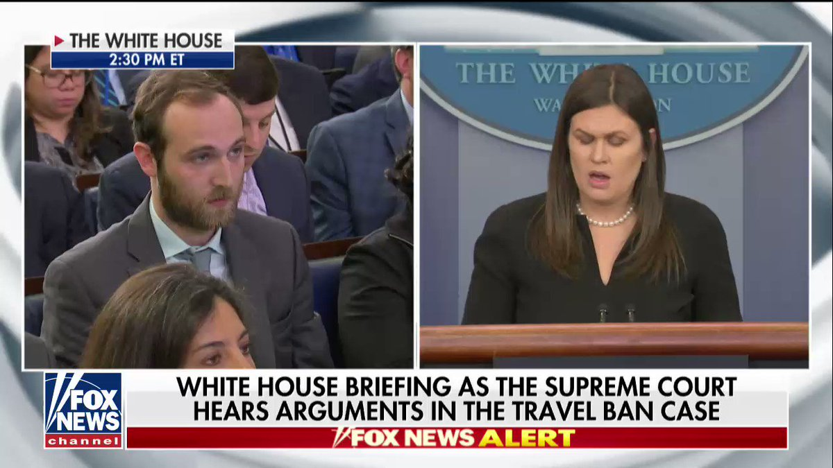 .@PressSec: 'The focus of this travel ban has been on safety and security.' https://t.co/duYSVhN8BN