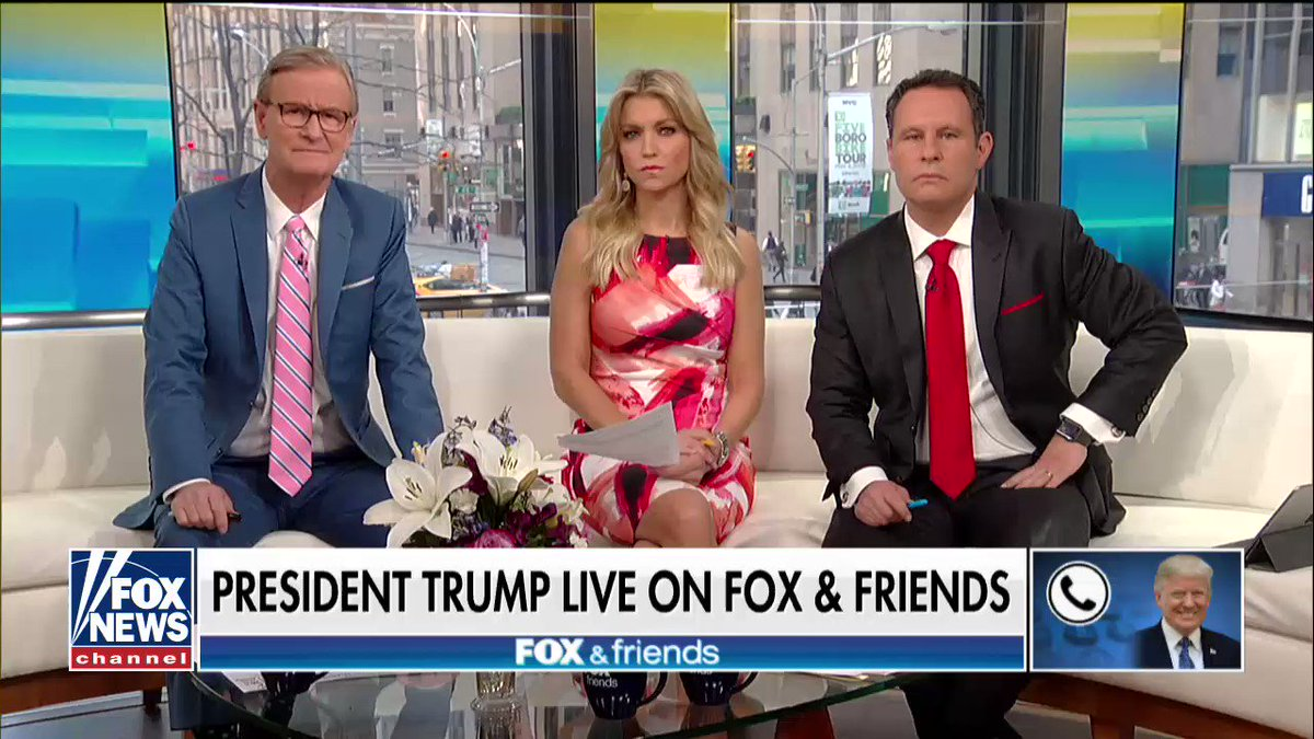 ".@POTUS on @foxandfriends: ""Comey is a leaker and he's a liar."" https://t.co/2gGJB2FofM https://t.co/hu8jU4CI3Q"