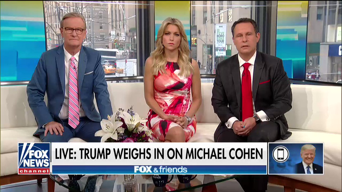 'He's a good guy.'  @POTUS weighs in on Michael Cohen on @foxandfriends https://t.co/27Slz5orlr