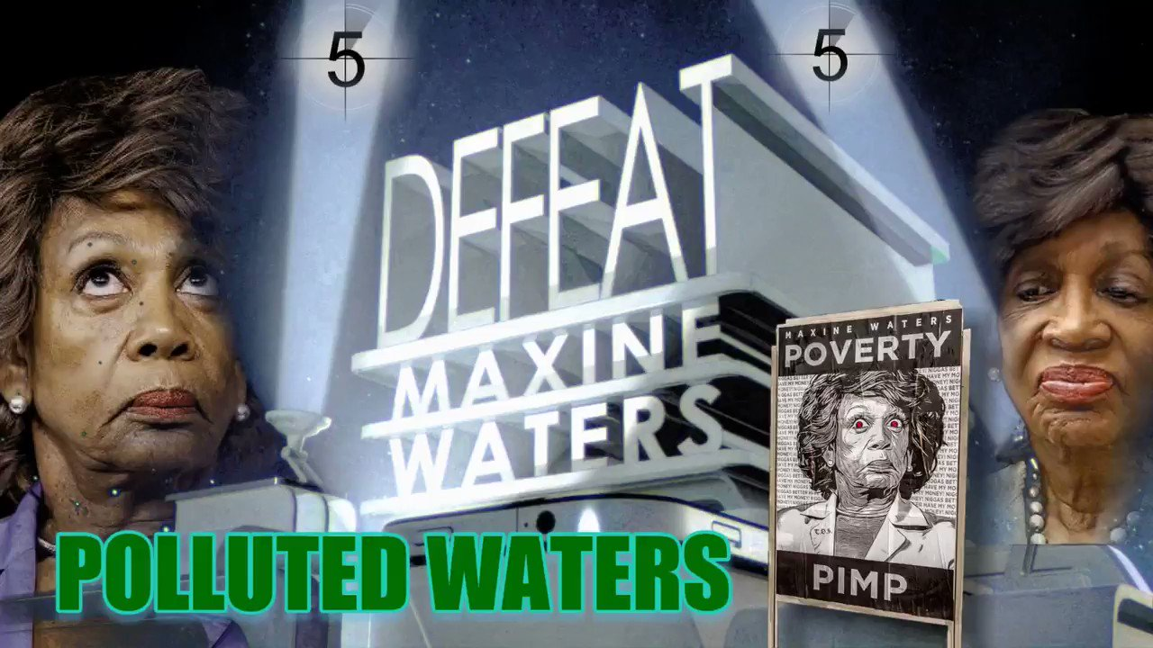 """. A New Horror Movie Produced by THE SWAMP """"POLLUTED WATERS""""  WARNING: Watching Maxine Waters may disturb some viewers.  @Politick_Rick  #TakeBackCalifornia #CA43 #POTUS #1A #2A #Tucker #Hannity #Potus45 #TheFive #AmericaFirst #MAGA #BuildTheWall #FakeNews #FakeNewsCNN https://t.co/32RPoeeyVa"""