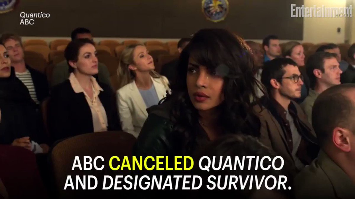 ABC has officially canceled dramas Quantico and DesignatedSurvivor: