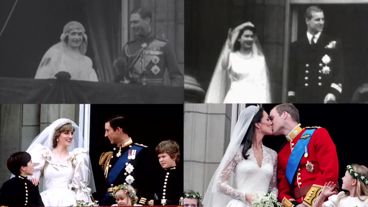Royal weddings through the years, from street parties to designer dresses. Via @ReutersTV https://t.co/zPzuhwDBOq