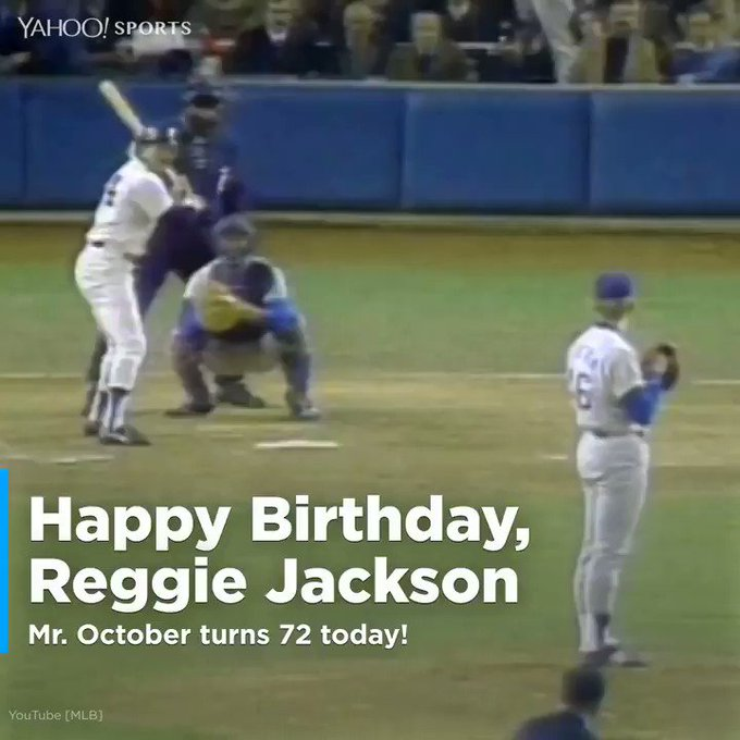Mr. October turns 72 today!  Happy Birthday, Reggie Jackson!