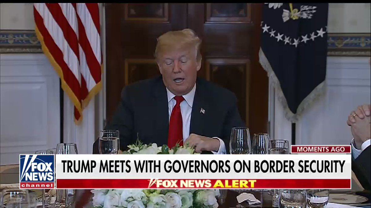 '@TheDemocrats have been horrible on border security.'  @POTUS meets with governors on border security. https://t.co/uto5zDCDeC