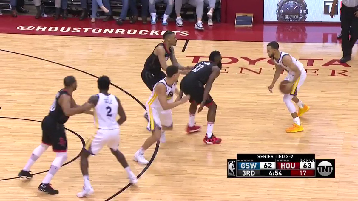 Steph goes up, under, & spins it off the glass! ��  @warriors & @HoustonRockets tied at 66 on @NBAonTNT   #DubNation https://t.co/6JzPrh7jhf