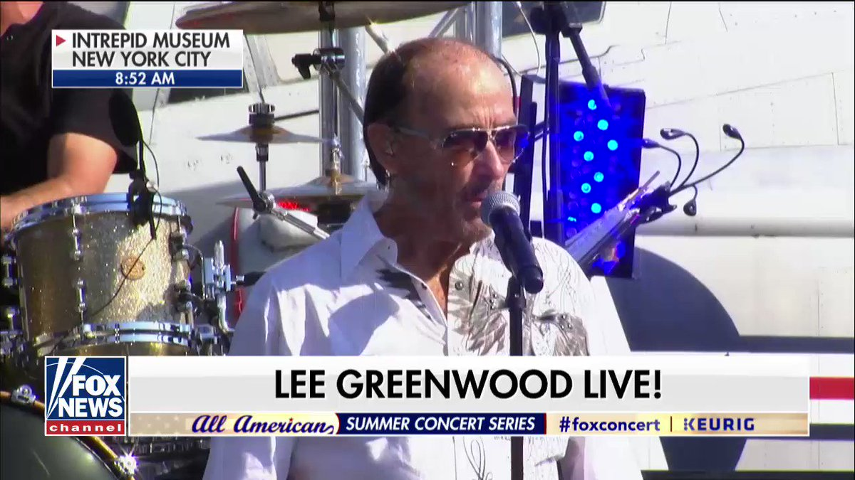 """.@TheLeeGreenwood performs """"God Bless the U.S.A."""" on @foxandfriends #FoxConcert #ProudAmerican https://t.co/po00A0WFGQ"""
