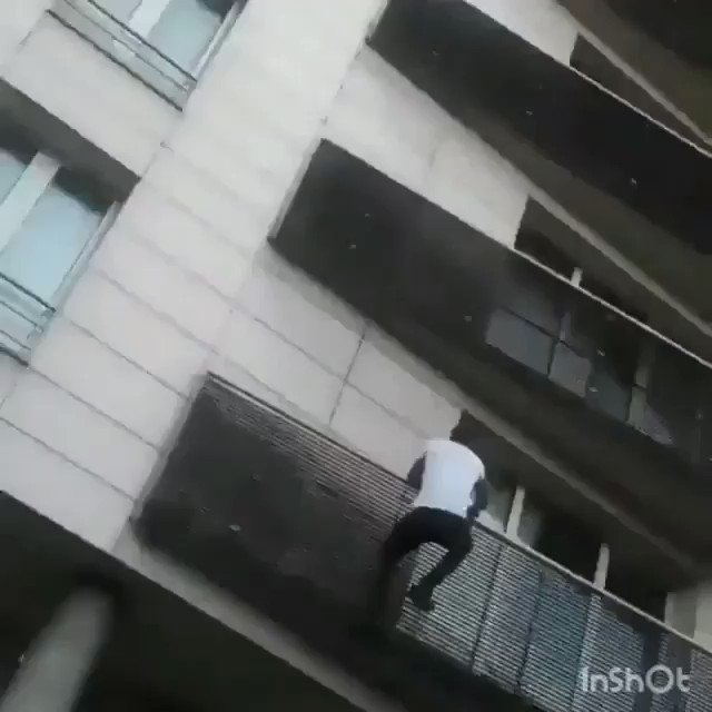 Props to this guy for saving that child! Mamoudou Gassama, spiderman! https://t.co/KXxhIv0Vhl