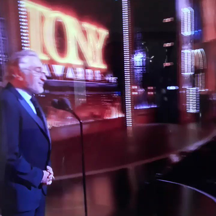 Here's video of DeNiro swearing at Trump on #TonyAwards  Australian feed didnt censor it. https://t.co/KZNrT8UIyH