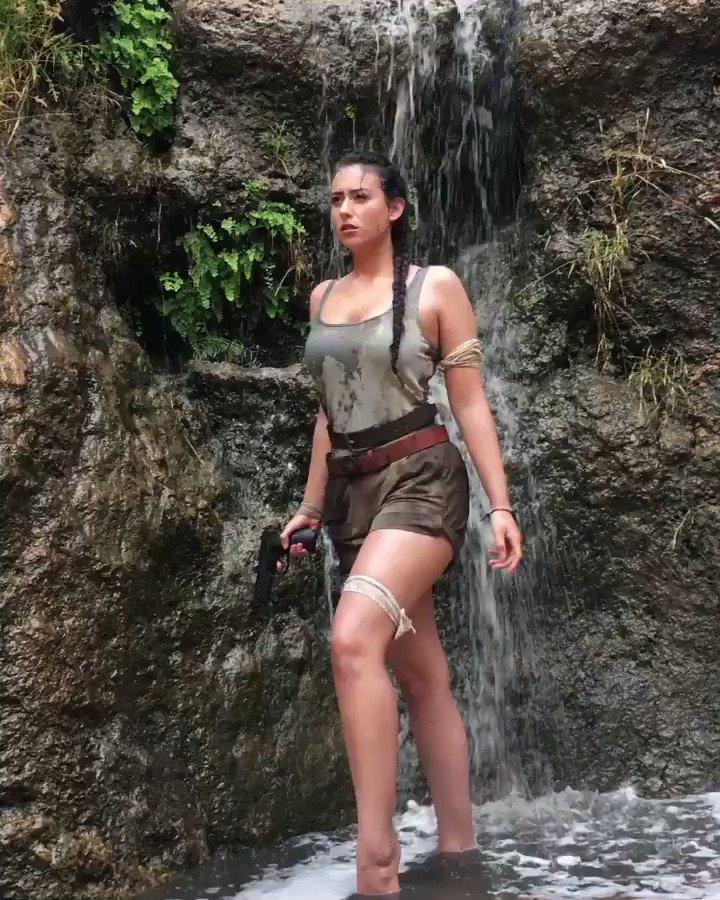Little clip from the heavy rain creating a waterfall down onto the beach=best Lara Croft spot https://t.co/q4B4vmfLV0