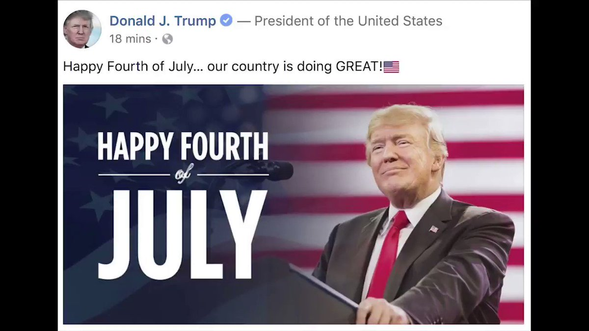 RT @SachaBaronCohen: A message from your President @realDonaldTrump on Independence Day https://t.co/O2PwZqO0cs
