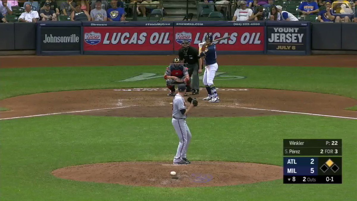 Ayy!����   Hernán Pérez hit this 2-run HR off Winkler in the 8th to give the Brewers a little extra insurance. https://t.co/fWKa6fo8yO