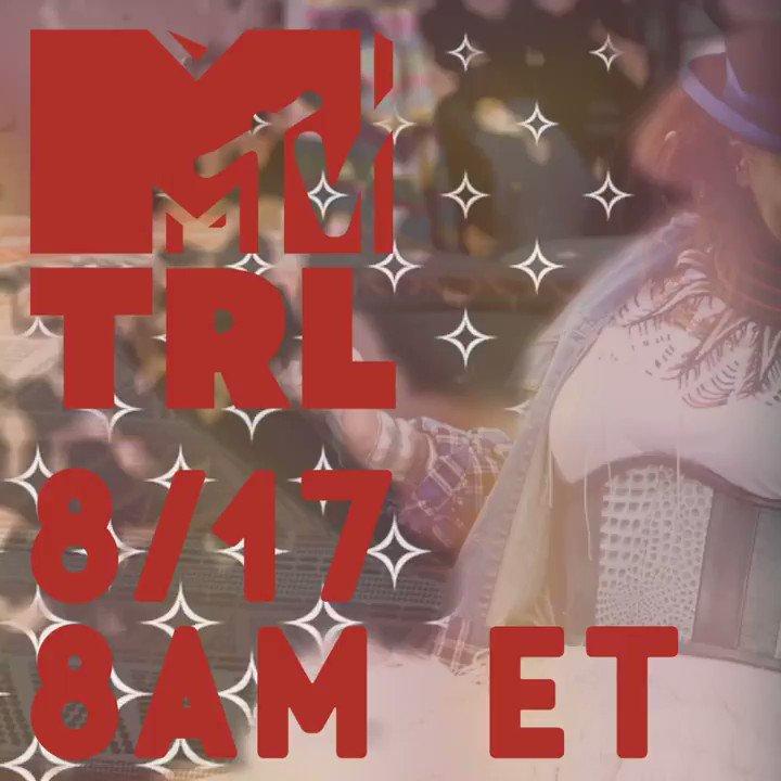 See u soon @TRL ????✨  8/17 8AM ET https://t.co/Y4nwUqcptl