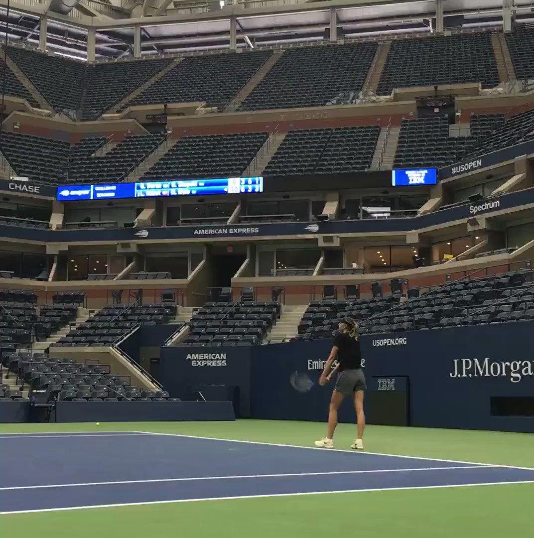 RT @usopen: Practice, Practice, Practice...  Welcome back to New York, @MariaSharapova!  #USOpen https://t.co/J2q4Zq1snx