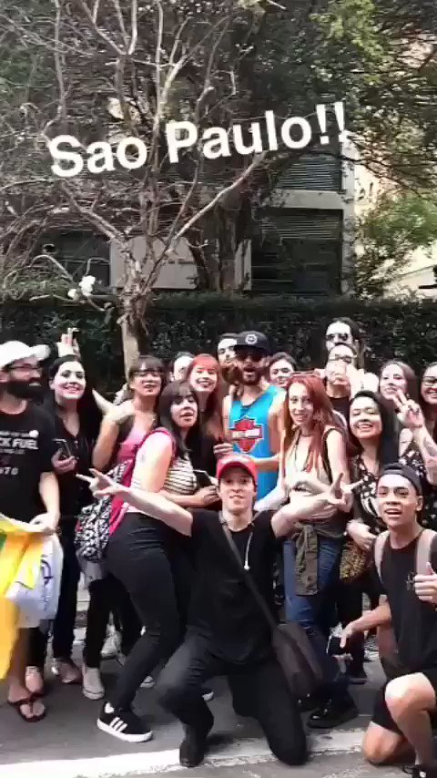 Found a few friends here in São Paulo ???????????????? #MonolithTour https://t.co/vGn45TvavH