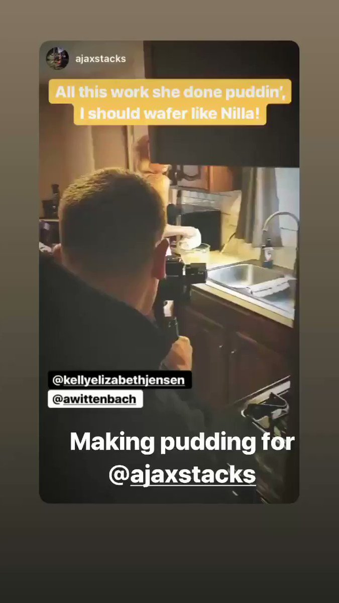 Oh just making pudding for ...so good to see you! eWUVncP8U4