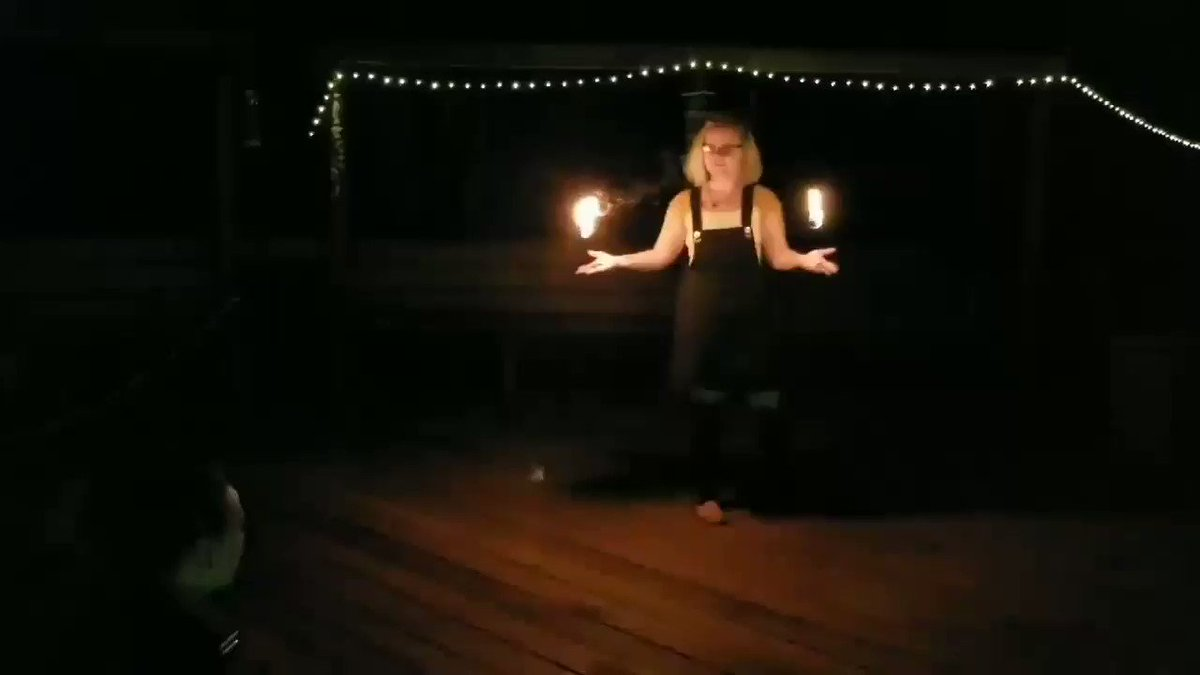 Another part of me playing with a friend's palm torches this weekend 😊 JhyV1Nsclj