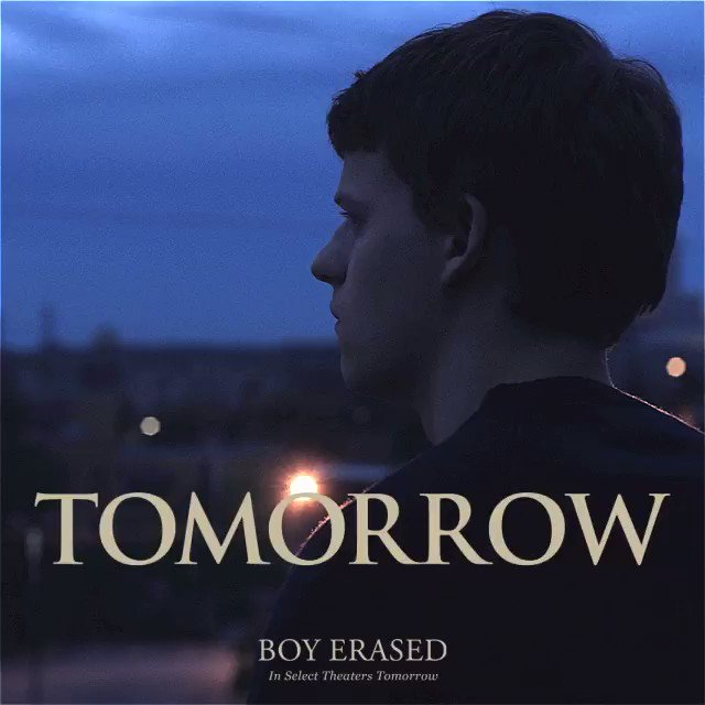RT @BoyErased: TOMORROW, be the first to see #BoyErased in NY/LA/SF. Get tickets now: https://t.co/jbggGfOWx6 https://t.co/8wdN8FqhTv