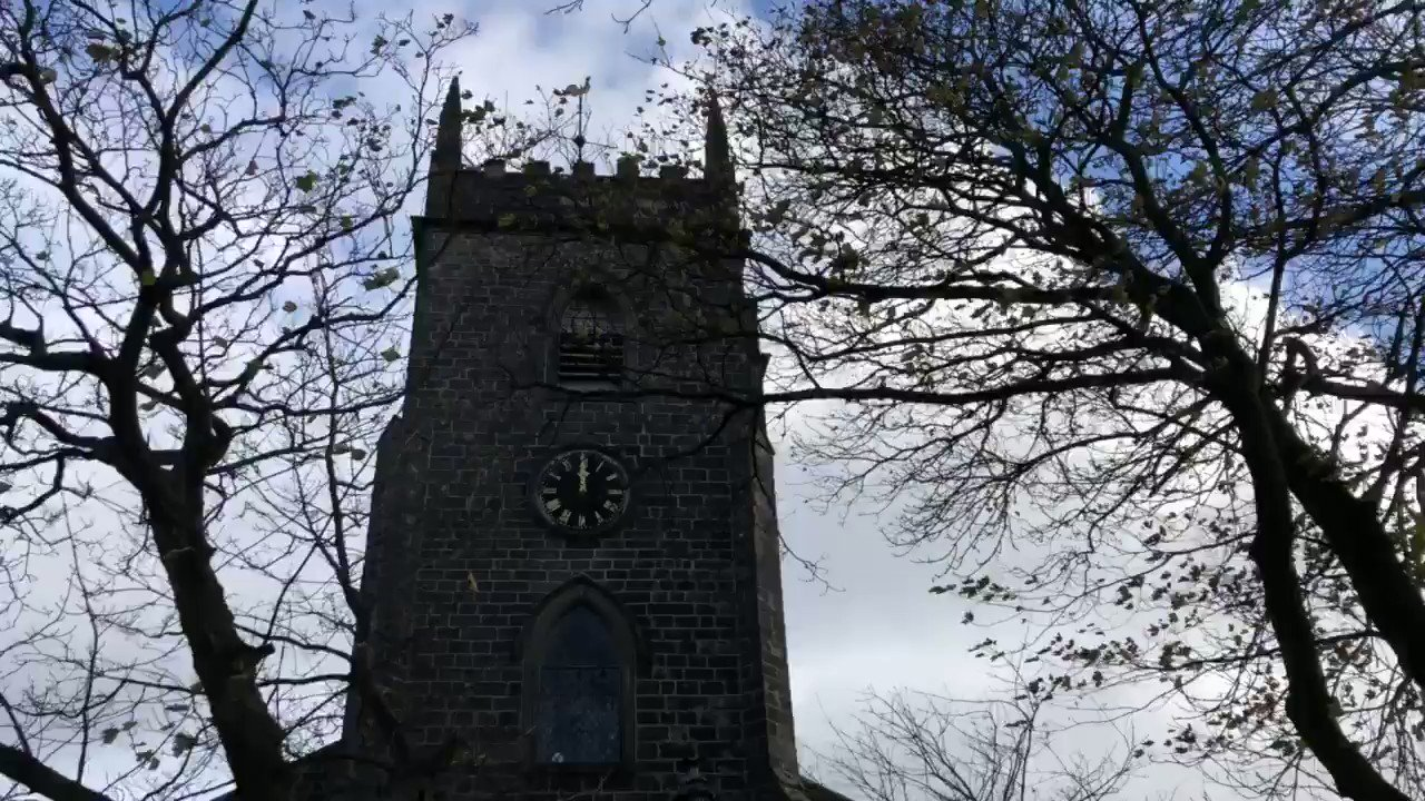 """The peal is in full swing at St Nicholas, Newchurch Lancs. A 3 hour peel on the day it was rung 100 years ago. Over 5000 changes and the tower has a 2"""" whip during ringing. https://t.co/HKs2ylrFTJ"""