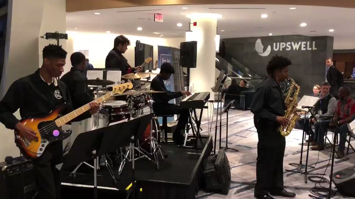 A loving kindness meditation and a little jazz rounded out an inspiring first day at #Upswell2018. #grateful https://t.co/zJfd4KDYV9