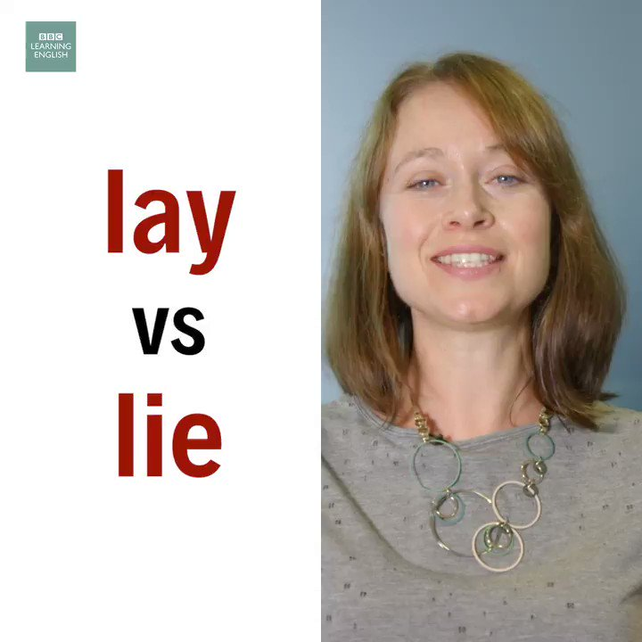 Sian's going to show you the differences between lay and lie! Watch the video then answer the question: Is this sentence correct? If not, can you fix it? 'I like to lay on the beach and read a book.' #learnenglish #vocabulary #vocab #confusingwords #esl #elt #lieorlay #quiz https://t.co/LrGzGm4r4z