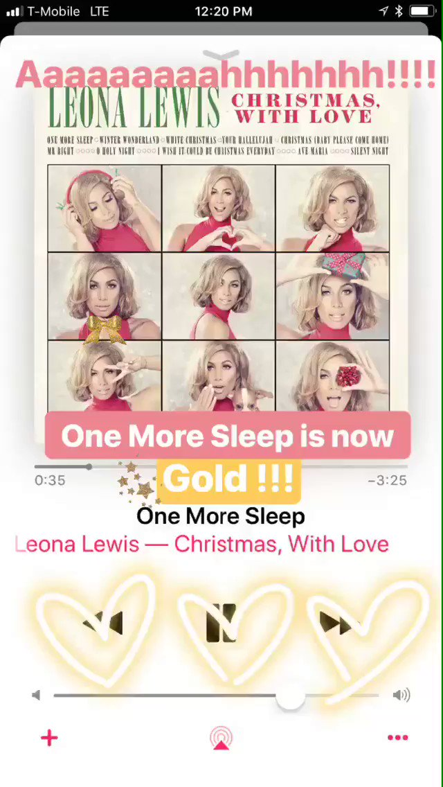 Thankyou for all your support for my Christmas song #onemoresleep ❤️ #gold ???? ???????? https://t.co/kzA7hW2Lkd