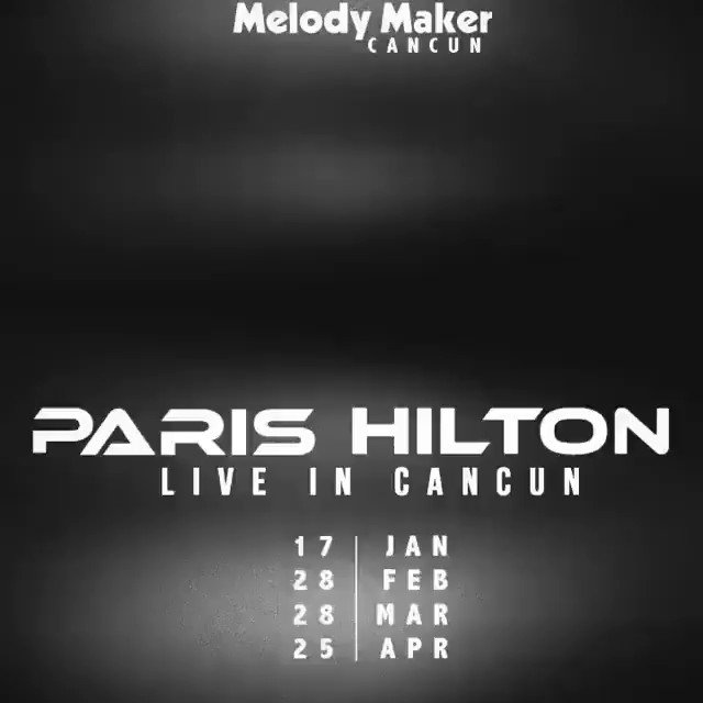 Hey #Cancun #Mexico ???????? So excited to play for you all at @MelodyMakerHotels on January 17th! ???????????????? #PartyWithParis ???? https://t.co/PiKIOna1IB
