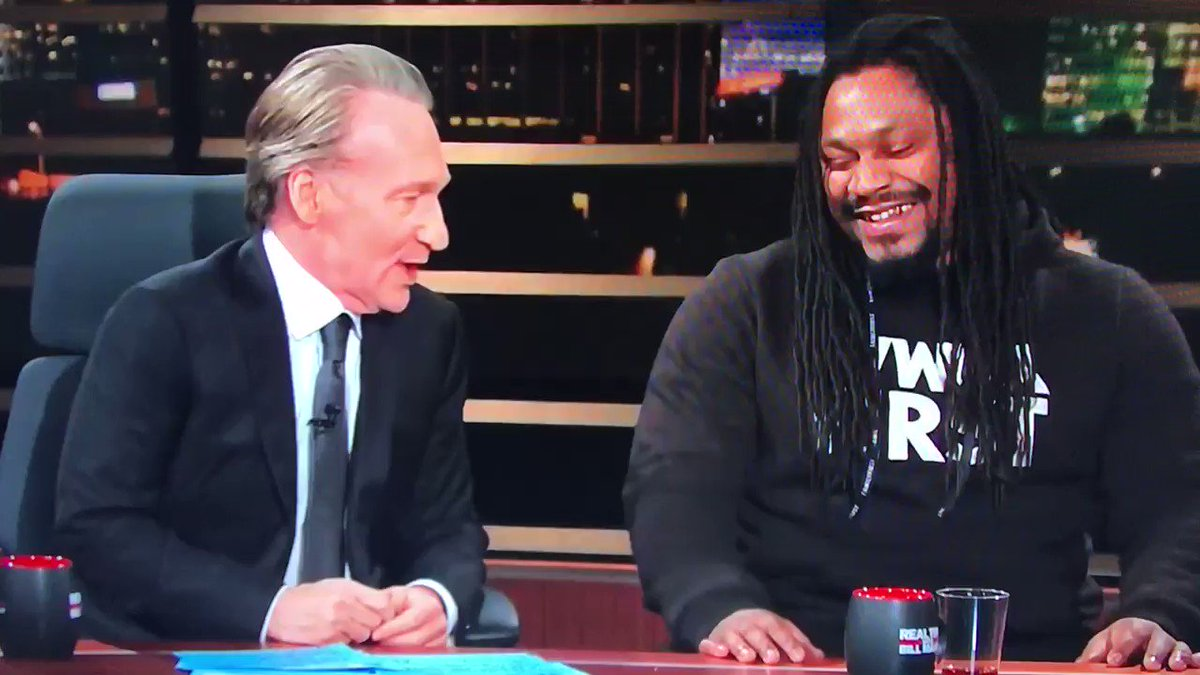 "Trump said Marshawn Lynch was unpatriotic for taking a knee  Marshawn: ""That motherf**ker say a lot of sh*t."" Legend. 😂"