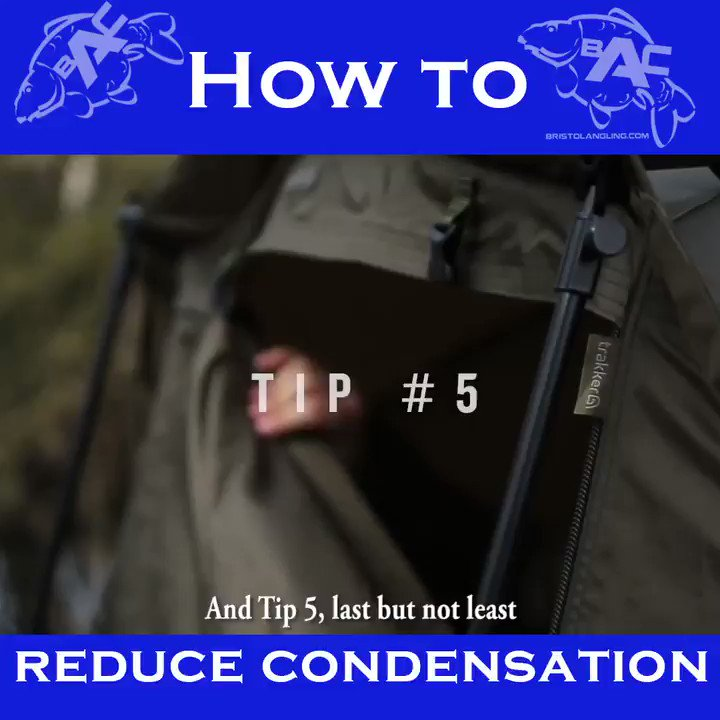 Reduce Condensation in your bivvy - Tip 5! #BristolAnglingCentre #CarpFishing #Fishing #Trakker http