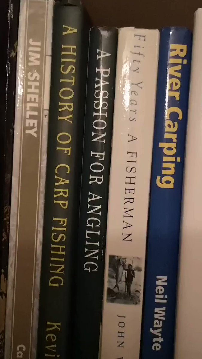 Just a few of my #carpfishing books #fishing #carp #CARPology https://t.co/sD604hQ0S2