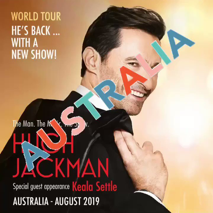 AUSTRALIA with special guest appearance by @kealasettle ????#themanthemusictheshow #August https://t.co/7caMQzRkgP