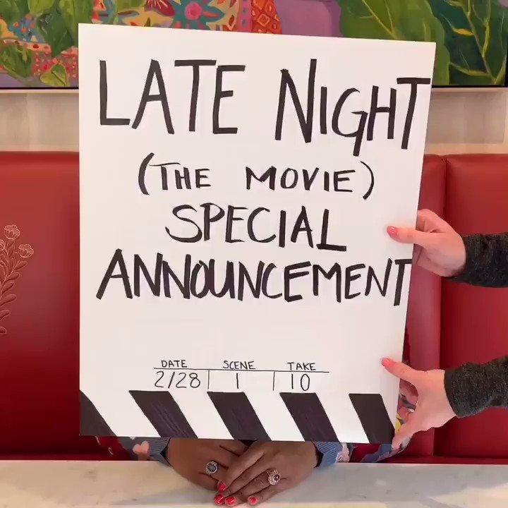You heard it here first. @LateNightMovie in theaters June 7th ???? https://t.co/2LTToPsU0W