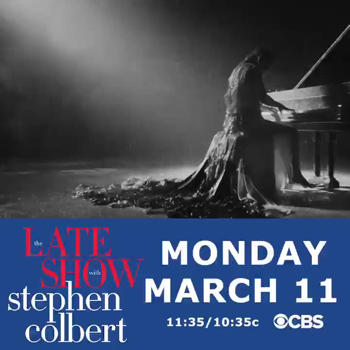 On @colbertlateshow this Monday ❤#LSSC #LateShow https://t.co/5VlzhdwjL5