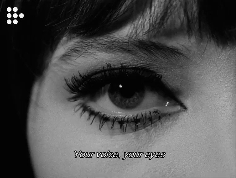 RT @mubi: Anna Karina reads from Surrealist poet Paul Éluard's
