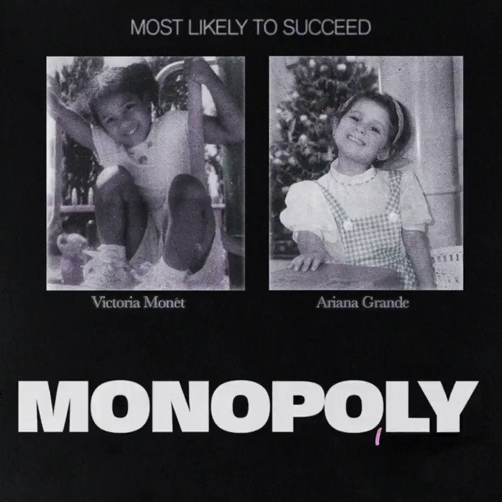 RT @Spotify: Twinny twin twins ????‍♀️ @ArianaGrande x @VictoriaMonet. #MONOPOLY is here ???? https://t.co/R0dpc8Oc5U https://t.co/hBH19b24MG