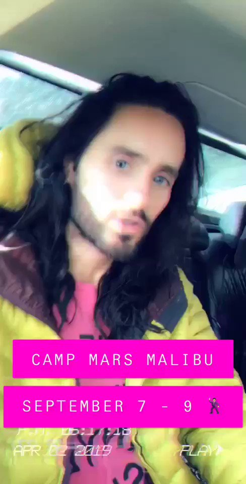 Can't wait to see you guys. #CampMarsMalibu https://t.co/8Bs8lBKCAL