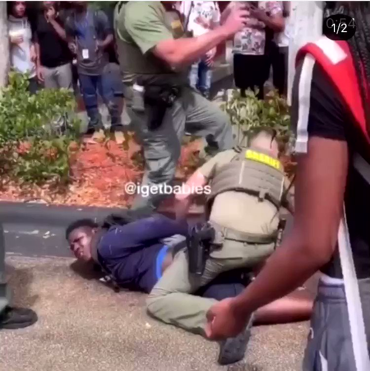 ⚠️OUR BLACK YOUTH ARE NOT SAFE⚠️ This occurred at J.P. Taravella High School today. How about this..#Neveragain do black students fear for their life  by those who are suppose to be protecting us. #neveragain do black boys are introduced to the taste of blood and pavement. https://t.co/bk8HeLbO0V