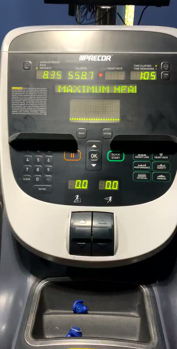 miverma: May 1st workout session one (Morning) treadmill 8.35 558 calories 64 mins @bigdamrun #RoadtoImagine https://t.co/UHUzZCwGS1