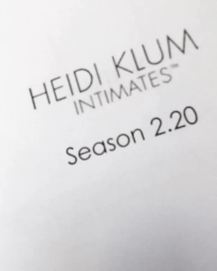 Design meeting for my next collection of @heidiklumintimates https://t.co/ZY2GT6mDJm