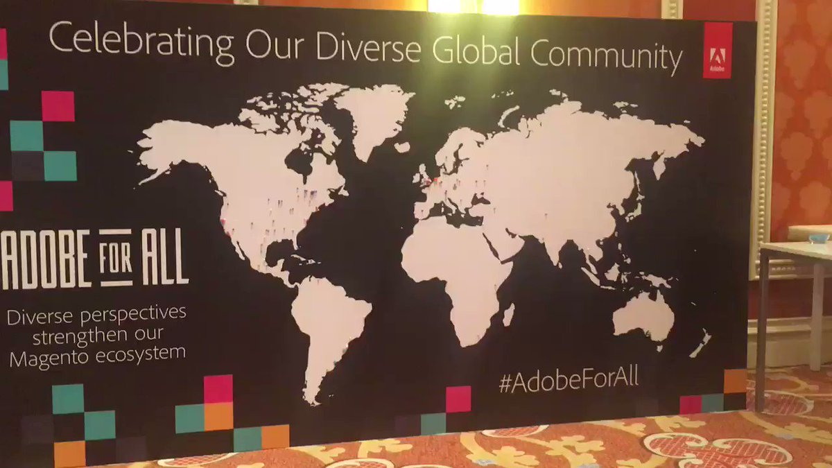 PottyRobz: Putting @veeqo on the map, literally #Adobe4all #MagentoImagine #ExpandTheExperience https://t.co/RaFY2ygfSY