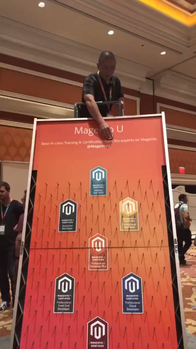 sherrierohde: Be as cool as @richbaik and play plinko at the @MagentoU booth! #MagentoImagine https://t.co/5Dxl3GRjuO