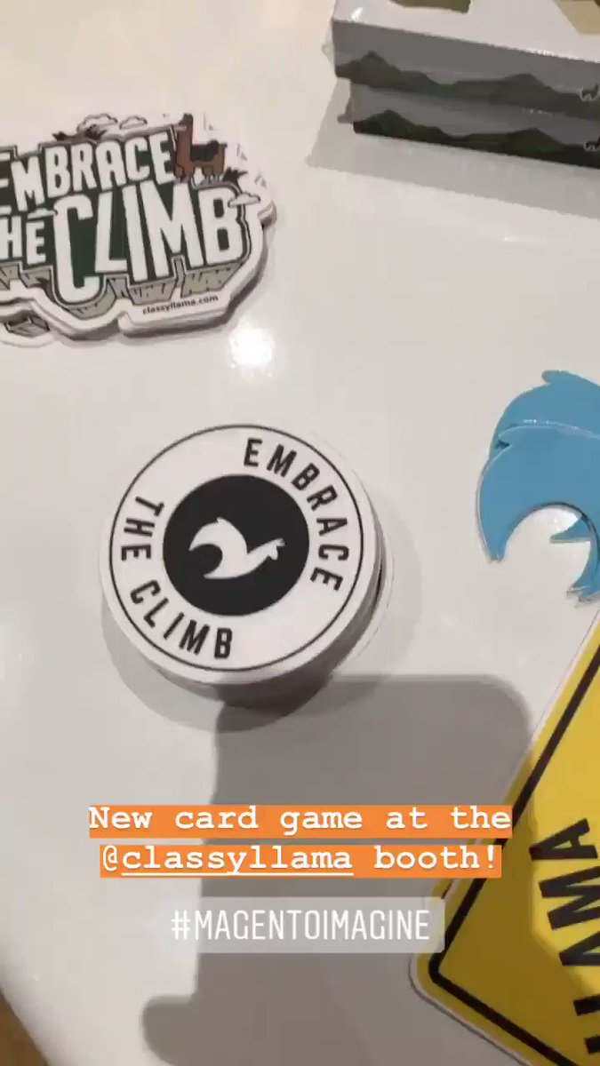 sherrierohde: New card game at the @classyllama booth! nn(Word on the street is they're mailing the llamas.)nn#MagentoImagine https://t.co/MuHjkNZmMc