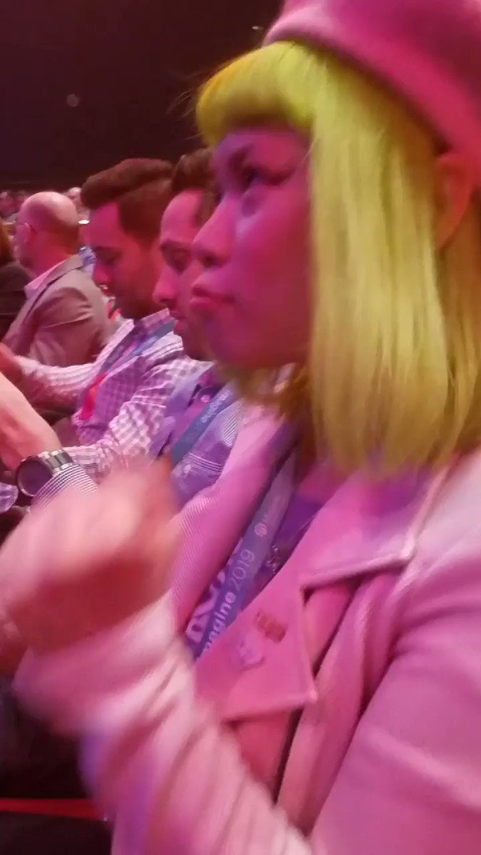 MissDestructo: 'Everyone shhhhh... IS THIS BTS!!!?'nnBringing the energy this morning at #MagentoImagine keynotes with @GoldieChan https://t.co/wYp0IBeLKO